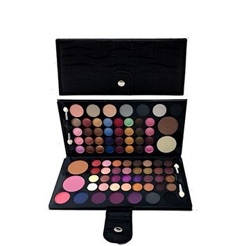 Womens 82 Colors Warm & Bright Professional Makeup Foldable Cosmetic Palette FK9511N