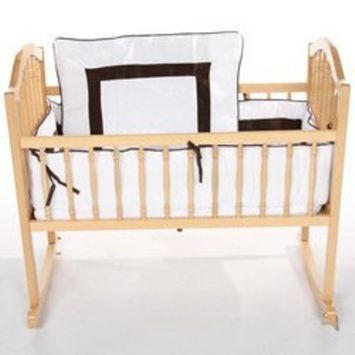 Babykidsbargains Sweet Classic Cradle Bedding, White, 18 x 36