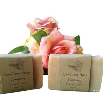 Saw Creek Soap 2 Pack of Homemade Soap From Rain - Average Weight 4 Oz. (Oatmeal Milk and Honey)