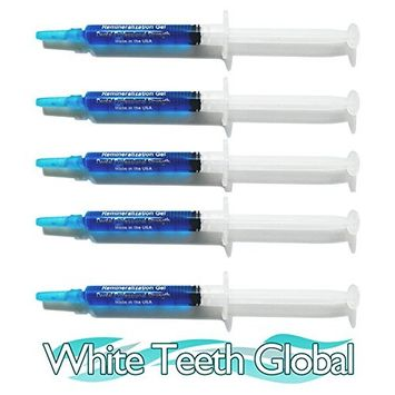 White Teeth Global Remineralization Gel Remineralizing and Reduces Teeth Sensitivity After Teeth Whitening Treatment - 5 Syringes of Gel