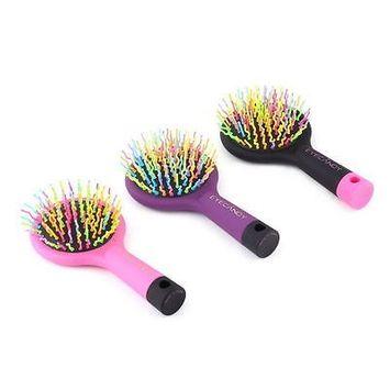 Toner Depot Detangling Hair Brush Rainbow Volume Anti-static Hair Curl Straight Comb Brush