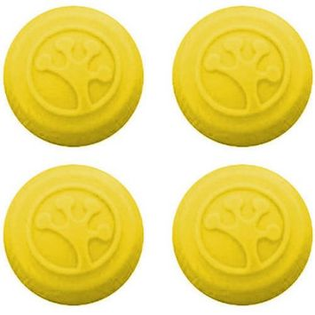 Innovative Gaming Grip-iT Analog Stick Covers for Xbox 360, Xbox One, PS3 and PS4, 4 Pack, Yellow