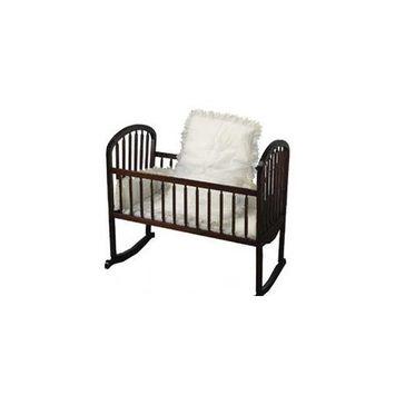 Babykidsbargains Eyelet Cradle Bedding Ruffled, White, 18 x 36