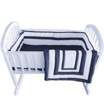 Babykidsbargains Double Hotel Cradle Bedding, Navy, 18