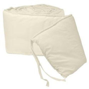 Babykidsbargains Organic Cradle Bumper, White, 15