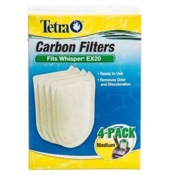 Tetra Carbon Filters for Whisper EX Power Filters Medium - 4 Pack - (Fits EX20)