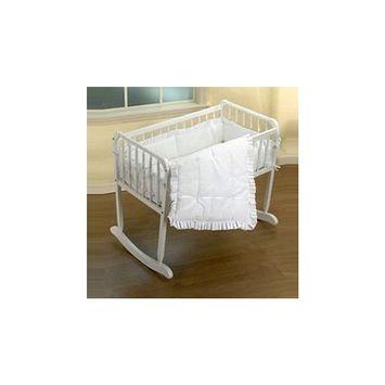 Babykidsbargains Simplicity Cradle Bedding, White, 18