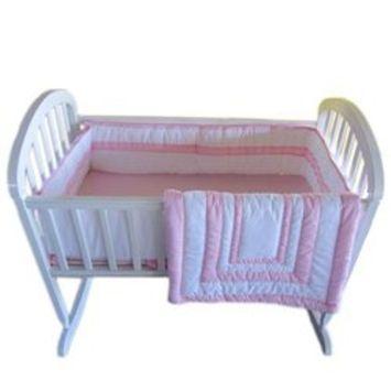 Babykidsbargains Double Hotel Cradle Bedding, Light Blue, 18