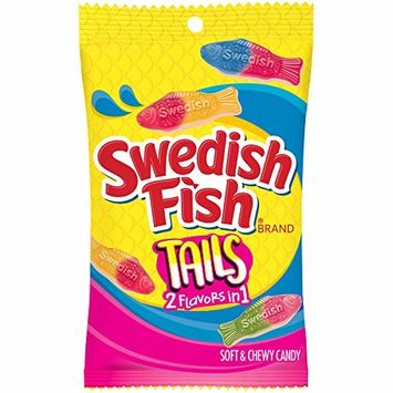 Swedish Fish Tails, 2 Flavors in One, 8 Oz. Bag