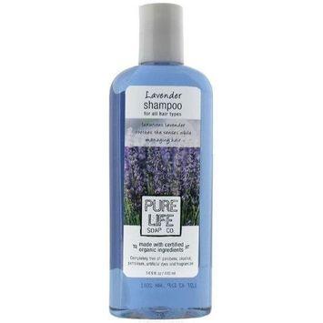 Pure Life Soap Co. Pure Life Shampoo Lavender, 15 Fluid Ounce