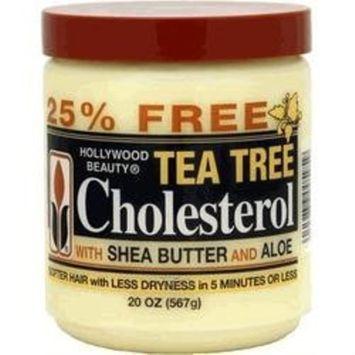 Hollywood Beauty Tea Tree CholesterolWith Shea Butter and Aloe 20 Oz