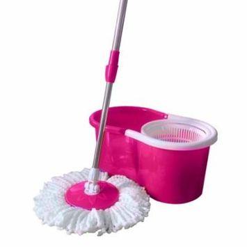 Ktaxon Microfiber Magic Mop with Bucket 2 Heads Rotating 360Easy Floor Mop 4 Colour