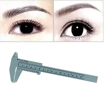 Wensltd 1PC Reusable Makeup Measure Eyebrow Guide Ruler Permanent Tools for Microblading