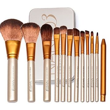 Naked3 Makeup Brush Set - Face Powder Brushes - Eyeshadow Blushes Makeup Brush Kit ( 12 Pcs )