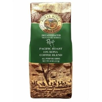 Hawaii Royal Kona Coffee 8 oz. Ground 10% Kona Roy's Signature Series Decaf