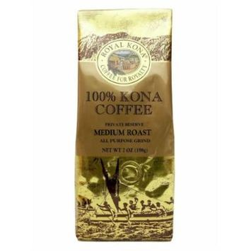 100% Kona Coffee Private Reserve Ground 7 oz (4 bag value pack)