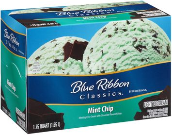 Blue Ribbon Classics® Mint Chip Light Ice Cream 1.75 qt. Carton
