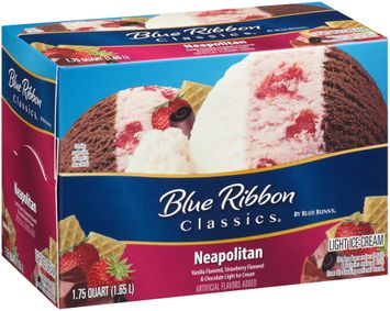 Blue Ribbon Classics® Neapolitan Light Ice Cream 1.75 qt. Carton