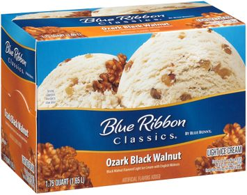 Blue Ribbon Classics® Ozark Black Walnut Light Ice Cream 1.75 qt. Carton