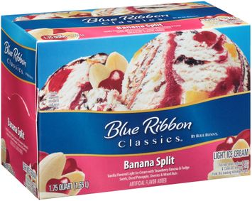 Blue Ribbon Classics® Banana Split Light Ice Cream 1.75 qt. Carton