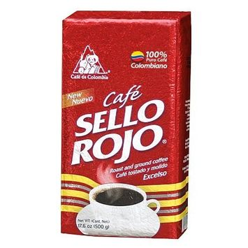 Cafe Sello Rojo | Best selling coffee brand in Colombia | 100% Colombian medium roast ground arabica coffee | Premium Coffee | Fresh Bulk Ground Coffe 5 lb
