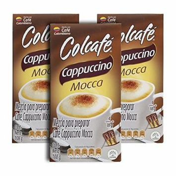 Colcafe Mocca Cappuccino Colombian Coffee Instant Mix, 6-Count Envelopes (Pack of 3).