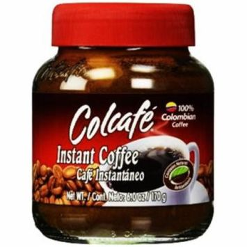 Colcafe Granulated Colombian Instant Coffee 6.0 oz jar