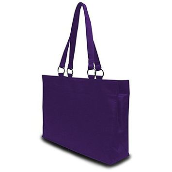 DD Stephanie Large Game Day Microfiber Tote - Purple(pack Of 24)