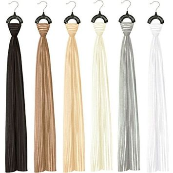 Striped Sheer Scarves - Neutral Colors Case Pack 24