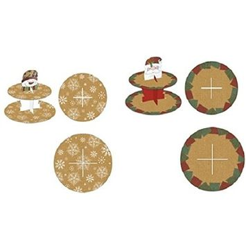 DDI 2127553 Christmas Hot Stamping Kraft Cupcake Stand - Case of 72