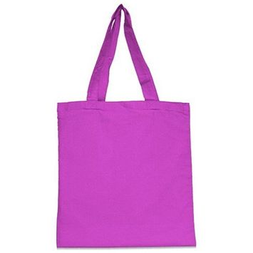 DD Nicole Cotton Canvas Tote - Hot Pink(pack Of 72)