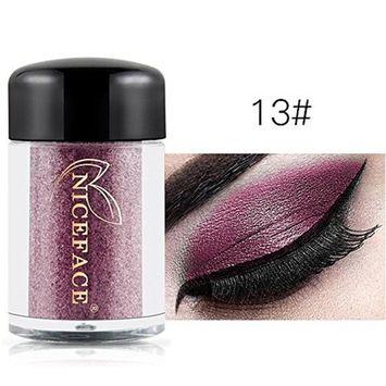Glitter Loose Makeup Eye Shadow Dust Powder, FirstFly Shimmer Metallic Eyeshadow Palette Party Cosmetic