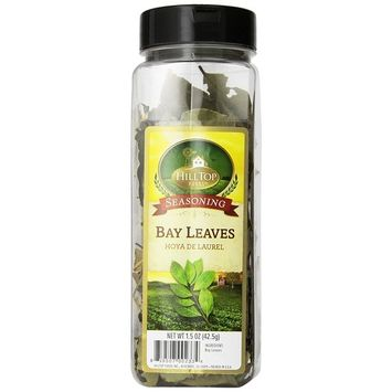 Hilltop Foods Dried Bay Leaves-Seasoning Spices 1.5 OZ Container