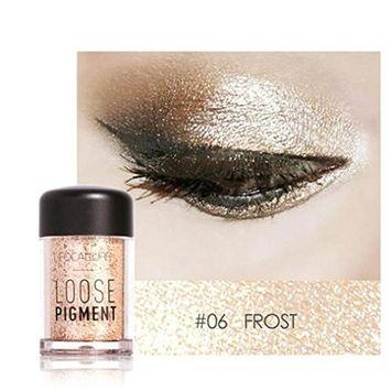 Glitter Loose Makeup Eye Shadow Dust Powder, FirstFly 12 Colors Flash Metallic Eyeshadow Palette Party Cosmetic (F)