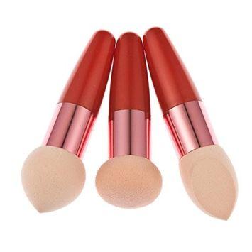 Usstore 3PC Makeup Brush Cosmetics Make Up Multipurpose Liquid Cream Powder Foundation Cosmetic Organizer Applicator Tool For Kabuki Women Lady