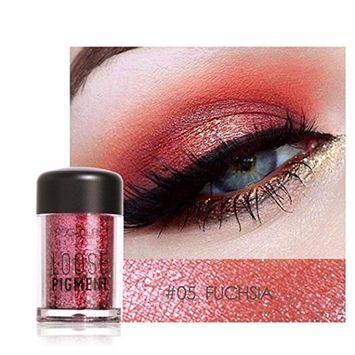 Glitter Loose Makeup Eye Shadow Dust Powder, FirstFly 12 Colors Flash Metallic Eyeshadow Palette Party Cosmetic (E)