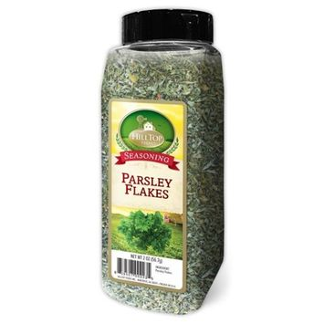 Hilltop Foods Dried Parsley Flakes-Seasoning Spices 2 OZ Container