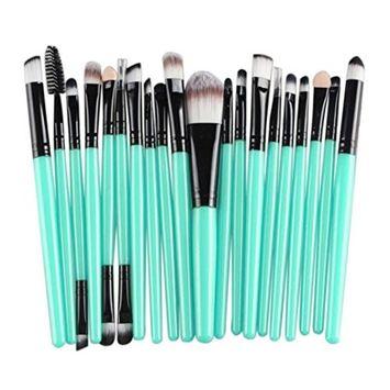 Usstore Brand New 20pcs Makeup Brush Powder Brush Toiletry Kit Wool Make Up For Women Lady