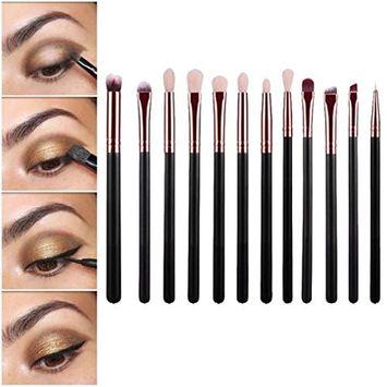 Usstore Brand New 12pcs Cosmetic Art Makeup Brush Powder Brush Toiletry Kit Make Up For Professional Women Lady