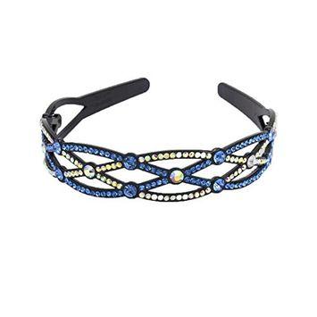 Yeshan Rhinestone Beaded Handmade Headband,Hairband for Girls,White