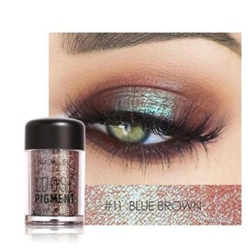Glitter Loose Makeup Eye Shadow Dust Powder, FirstFly 12 Colors Flash Metallic Eyeshadow Palette Party Cosmetic