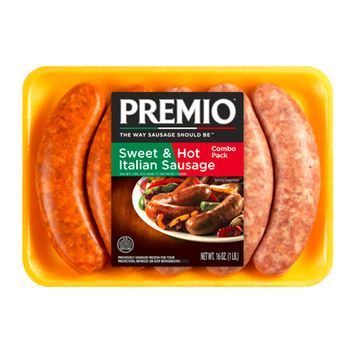Premio Italian Sausage Sweet/Hot Combo Pack