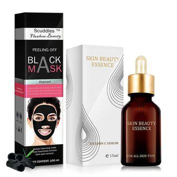 Blackhead Remover Mask, Blackhead Peel Off Mask, Face Mask, Blackhead Mask, Black Mask Deep Cleaning Facial Mask for Face Nose (BLACKHEAD REMOVER & SERUM)
