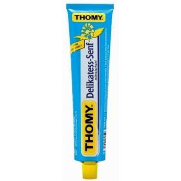 Thomy Delikatess Senf (Medium Mustard) in Tube - Pack of 4 Tubes X 100 Ml