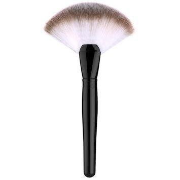 Luxspire Professional Fan Makeup Brush, Single Soft Face Powder Foundation Blush Sector Fan Brush Foundation Brushes Cosmetics Make Up Tool