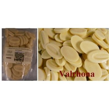 Valrhona Ivoire White Chocolate Feves (Oval Discs) - 1lb