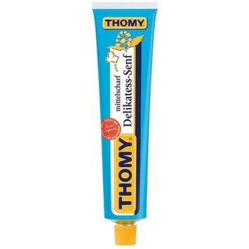 THOMY Delikatess Senf Mittelscharf (Medium Hot Mustard) in Tube - 200 ml