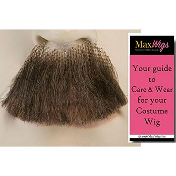 Chaplin Charlie Mustache Color Dark Grey - Lacey Wigs Synthetic Adolf Hitler 20th Century Over the Lip Lace Backed Hand Made Facial Bundle with MaxWigs Costume Wig Care Guide