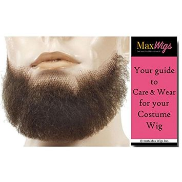 5 Point Discount Goatee Color Strawberry Blonde - Lacey Wigs Beard Synthetic Lace Backed Hand Made Fake Facial Bundle with MaxWigs Costume Wig Care Guide