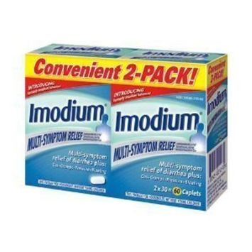 Imodium Multi-Symptom Relief - 4 Pack (30 count each), Total = 120 Count